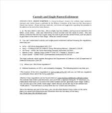 10+ Custody Agreement Templates – Free Sample, Example, Format ... Free Single Parent Custody Agreement Template Download
