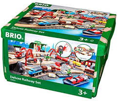 brio deluxe railway set wooden toy train set for kids made with european beech wood