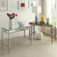 camille beveled mirrored accent 1 drawer office writing desk by inspire q bold