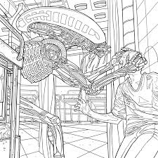 Small Picture Alien Coloring Book Pages Available for Download AvPGalaxy