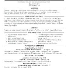 Nursing Resume Objectives Examples Entry Level Nursing Resume