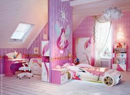 Pink Faery Theme with Sport Car Bed in Little Girls Bedroom Design Ideas
