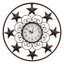 scroll metal wall clock
