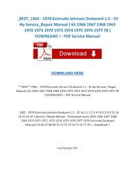 best evinrude johnson outboard hp service repair best 1965 1978 evinrude johnson outboard 1 5 35 hp service repair manual 65 1966 1967 1968 1969 19 by servicemanuals issuu