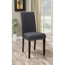 dhi nice nail head upholstered dining chair 2 pack multiple colors walmart