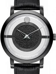 museum translucent black pvd 0606568 movado mens wrist watch