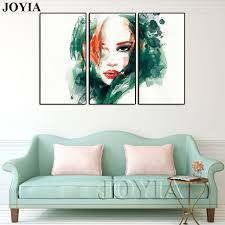 3 abstract watercolor canvas art beauty girl illustration long hair lady pictures painting prints modern home on abstract watercolor wall art with 3 abstract watercolor canvas art beauty girl illustration long hair