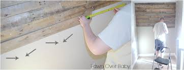 pallet wood wall whitewash. if you are blessed with a handy helper, while your pallet boards going up, mix white wash paint mixture. wood wall whitewash g