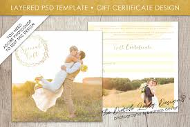 Photography Gift Certificate Template Psd Photo Gift Card Template 48