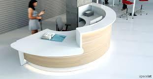 half circle desk white and oak half circle reception desk circle desktop site