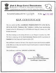 aalidhra pharmachem pvt pharma intermediates and api certifications