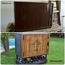 from antique storage cabinet to modern rolling bar diy painted furniture repurposing upcycling with doors15 cabinet