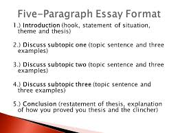 the formal five paragraph essay ppt video online  five paragraph essay format