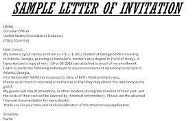 Sample Of Invitation Letter To Usa Sample Invitation Letter For