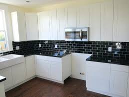 black and white backsplash tile black subway tiles in modern kitchen design ideas black subway inside