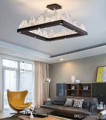 2018 club sifang iceberg crystal chandelier ledlight source glass crystal lampshade metal paint black paint k9 crystal light wall switc from xiong1972