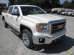 gmc trucks 2014 white.  White 2014 Sierra 1500 SLT Crew Cab 4x4  White Diamond Tricoat  CocoaDune Photo In Gmc Trucks C