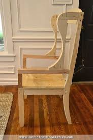 diy wingback dining chair how to build a frame for an upholstered chair 24