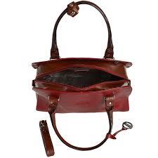 italian leather handbag red cognac 8105972