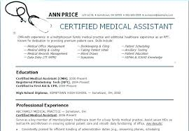 Medical Assistant Resume Example Best Medical Cv Template Free Download Template Download Medical