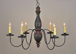 details about stockbridge 6 arm wooden chandelier light in black primitive country lighting