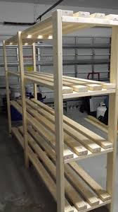 Diy Basement Great Plan For Garage Shelf Do It Yourself Home Projects From