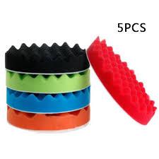 "<b>5pcs 7</b>"" <b>180mm Soft</b> Wave Foam Waffle Pad Buffing Sponge Pad Kit ..."