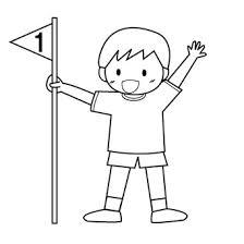 運動会のイラスト白黒一等賞 Popイラスト素材 無料ダウンロード