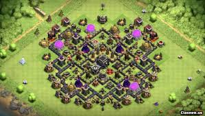 The Best Base Design For Clash Of Clans Town Hall 9 Best Th9 Trophy Loot Base Design With Link