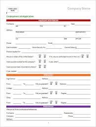 18 Job Application Form Template Free Word Pdf Excel Formats
