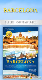 Barcelona Travel Flyer Psd Template Facebook Cover Free