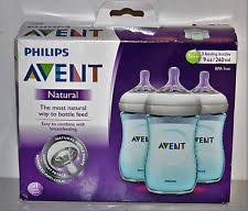 Avent Decorated Bottles Avent BPA 100 Pack 100 Ounce Decorated Natural Bottle Blue Monkeys 60