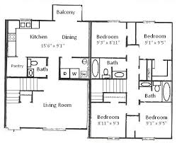 4 bedroom floor plan. Exellent Floor Bedroom Floor Plan 204 S Salisbury St 14 Throughout 4 Plan R