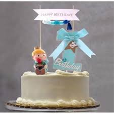 Tink Party Soccerene First Birthday Cake Topper Set For Baby Boy