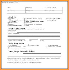 Employee Write Up Policy Adorable Write Up Form Work Forms For Getting A At Workbook Range In