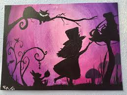 alice in wonderland acrylic painting by luckyowl2306