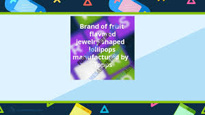 brand of fruit flavored jewelry shaped lollipops manufactured by topps fungamesarena