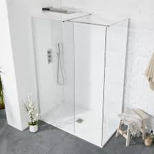 Aquaglass+ 8mm Square Walk-In Front Panel