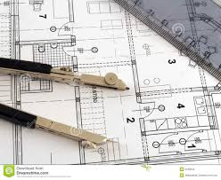 architectural.  Architectural Divider And Ruler On Architectural Plan And Architectural