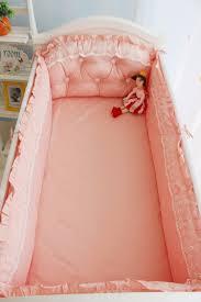 baby girls crib bedding set cotton baby bed linen crib per for newborn princess lace baby
