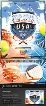 tennis academy school flyer template by stormdesigns graphicriver tennis academy school flyer template sports events