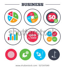 Business Pie Chart Growth Graph Golf Stock Vector Royalty