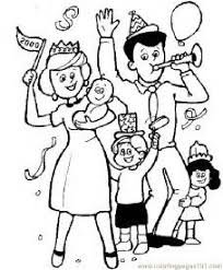 Small Picture Happy Family Free Images Family Coloring Page Wecoloringpage