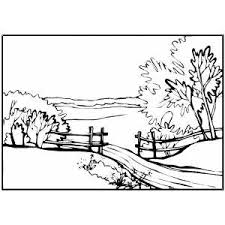 Small Picture Country Path Coloring Page
