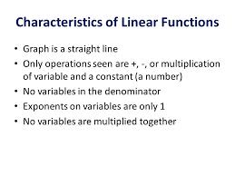 5 characteristics of linear