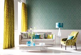 Wallpaper Decoration For Living Room Blue Wallpaper Living Room Ideas Yes Yes Go