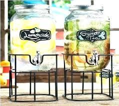 5 gallon glass beverage dispenser glass beverage dispenser with stand and spigot gallon drink dispenser drink