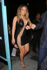 mariah carey in tight leather dress 10