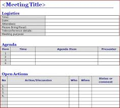 Minutes Of The Meeting Template Word Minutes Of Meeting Template Word Projectemplates