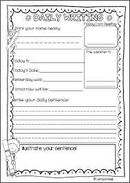 Kindergarten Writing Pages Daily Writing For Kindergarten Pre Primary First Grade And Second